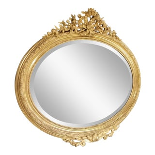 19th Century French Napoleon III Period Mirror For Sale