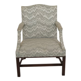 1970s Vintage Kittinger Colonial Williamsburg Mahogany Library Chair For Sale