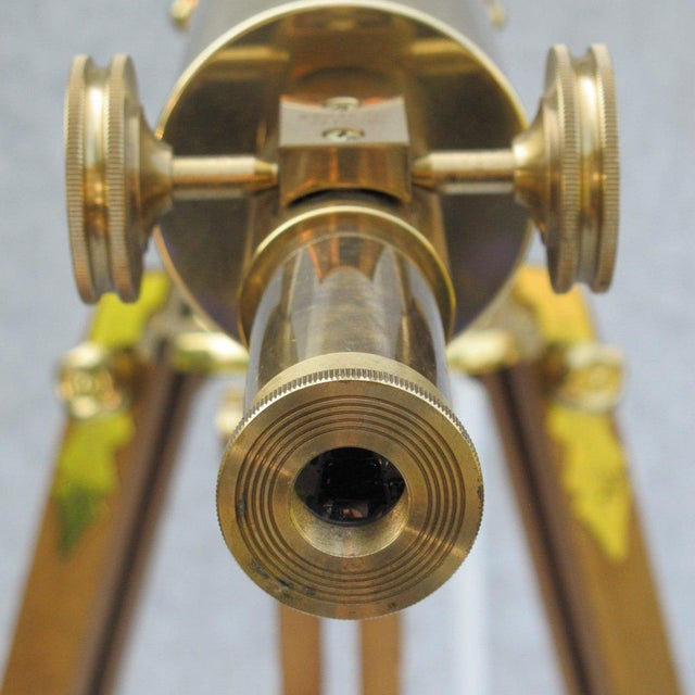 20th Century English Traditional Baush & Lomb Brass Telescope For Sale - Image 4 of 11
