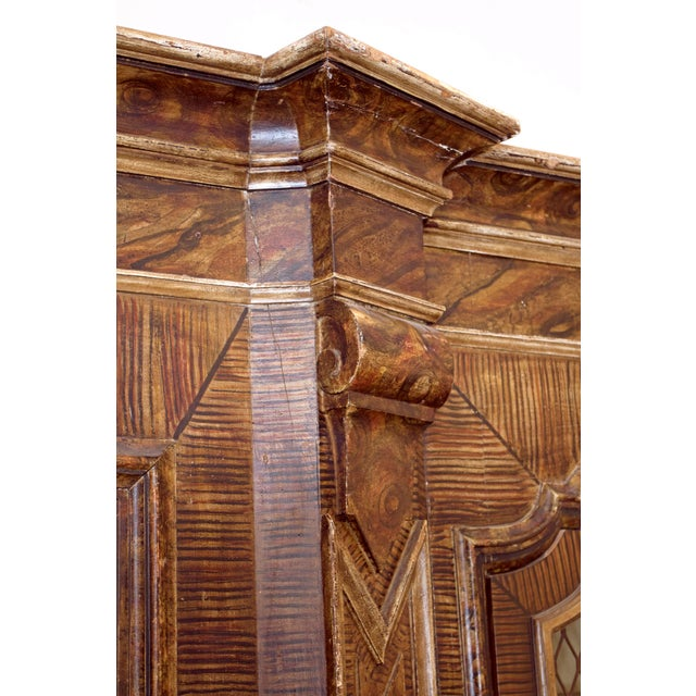 Lights Mid-19th Century Italian Rococo Style Bookcase For Sale - Image 7 of 13