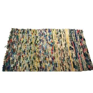 """Vintage Boucherouite Moroccan Carpet - 8'6"""" X 4'4"""""""