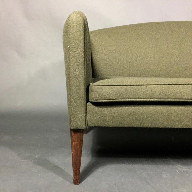 1960s Illum Wikkelsø 2-Seat Wool Sofa, Denmark 1960s For Sale - Image 5 of 12