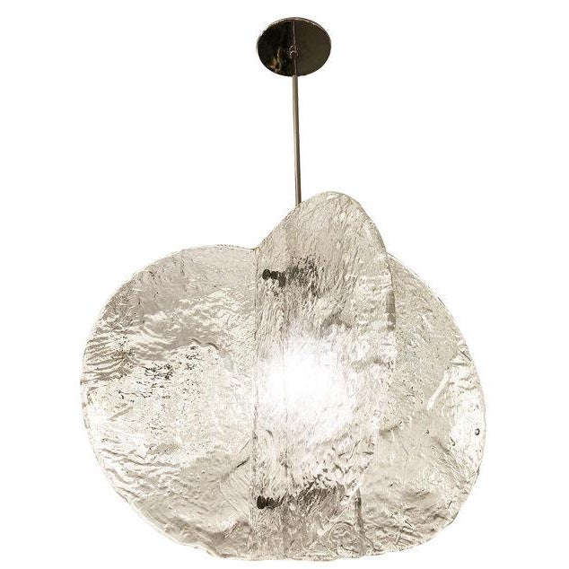 1960s Textured Murano Chandelier by Mazzega, Italy, 1960s For Sale - Image 5 of 8