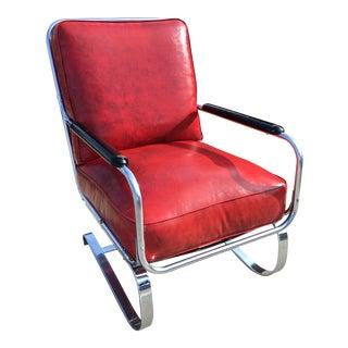 """Art Deco Signed """"Springer Chair"""" Kem Weber for Lloyd Mfg. For Sale"""