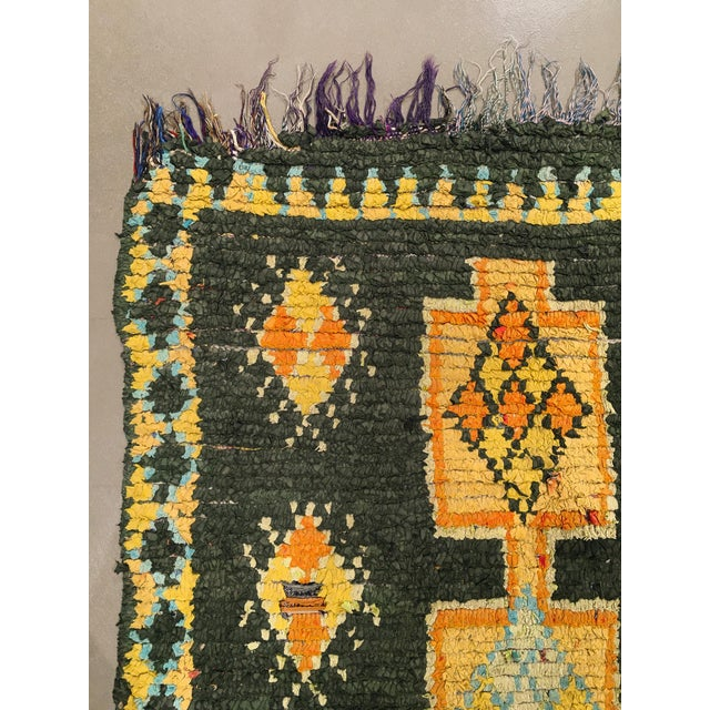 """1960s Vintage Moroccan Rug, 3'10"""" X 7'5"""" For Sale - Image 5 of 10"""