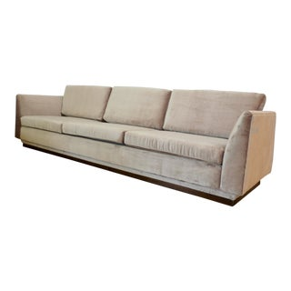 1980s Vintage Velvet Sofa For Sale
