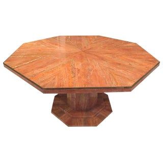 Italian Octagonal Marble Dining Table For Sale