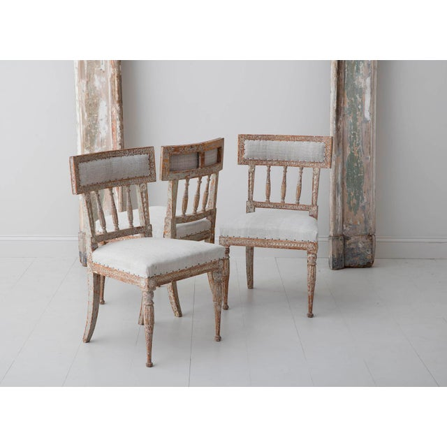 High End 19th Century Swedish Gustavian Period Chairs In Original