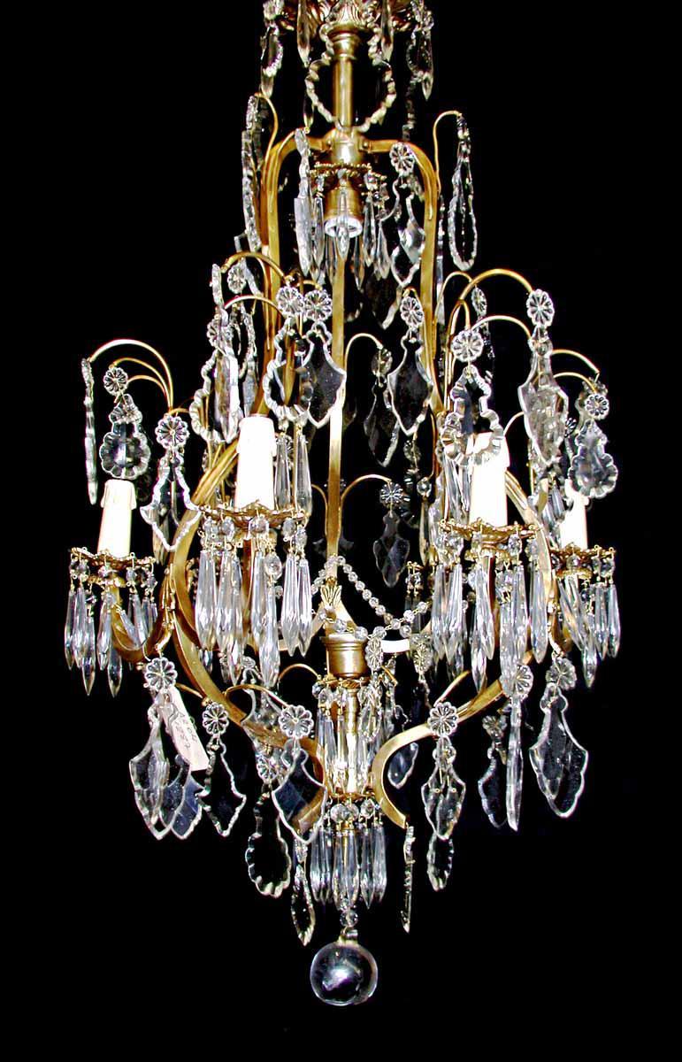 six arm crystal chandelier chairish