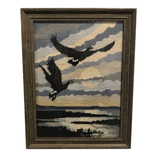Vintage Flying Geese Needlepoint For Sale