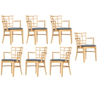 Paul Frankl for Brown Saltman Dining Chair, Set of Seven For Sale