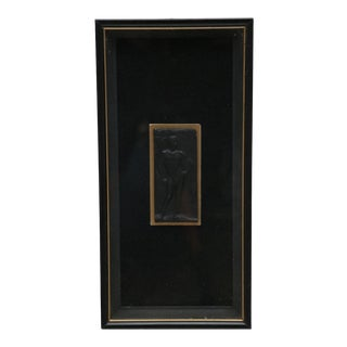 Nude Male Relief Plaque in a Shadow Box For Sale