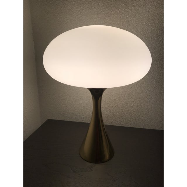 Mid-Century Laurel Brass Mushroom Lamp - Image 2 of 6