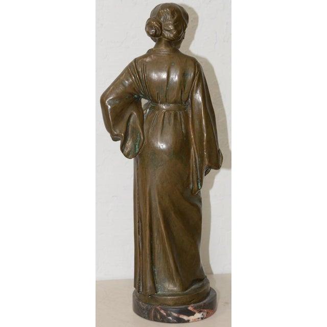 Arnold Katsch (German 1861-1928) Art Nouveau Bronze C.1912 For Sale - Image 4 of 9