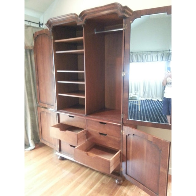 Traditional Smith and Watson Yew Wood Custom Made Armoire For Sale - Image 3 of 6