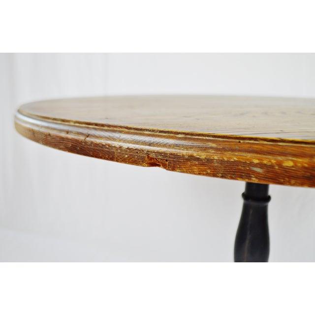 Rene Brancusi Chestnut & Iron Table - Image 9 of 10