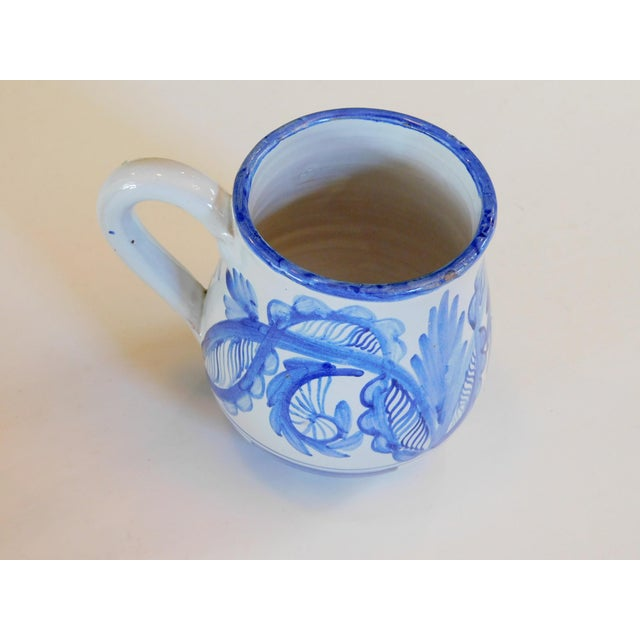 Hand Made Rustic Blue and White Studio Mugs - Set of 5 For Sale - Image 4 of 9