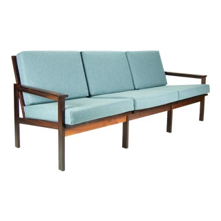 Illum Wikkelso for Niels Eilersen 3-Seat Rosewood Sofa For Sale