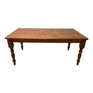 Classic Pine Farm Table For Sale