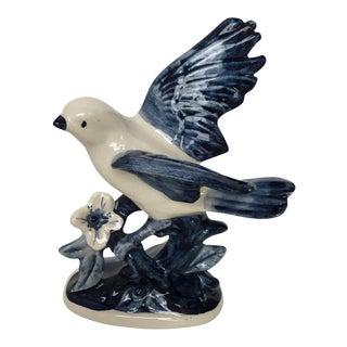 Delft Porcelain Bird Statue