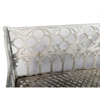 White Painted Cast Aluminum Gothic Bench Preview