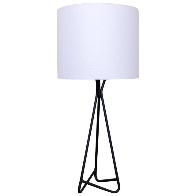 Sculptural Iron Table Lamp, 1950s For Sale