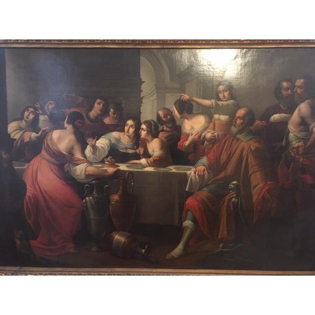 Religious 1859 Le Festin De Balthazar Oil Painting For Sale - Image 3 of 10