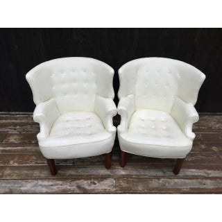 Wing Back Barrel Chairs - Pair (Final Discount) Preview