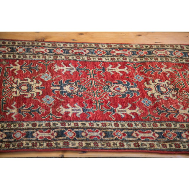 "Red Pak Caucasian Rug Runner - 2'8"" X 11'1"" For Sale - Image 4 of 4"