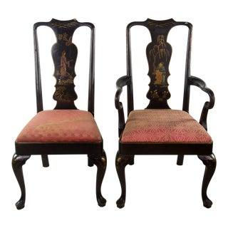 Chinoiserie Queen Anne Chairs - A Pair