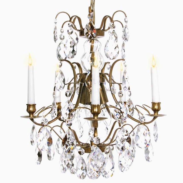 Baroque chandelier 5 cognac almond chairish baroque chandelier 5 cognac almond image 2 of 9 aloadofball Image collections
