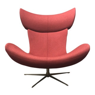 BoConcept Imola Red Luxe Upholstered Swivel Chair