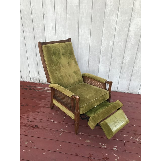 Mid-Century Cane Reclining Chair - Image 3 of 6