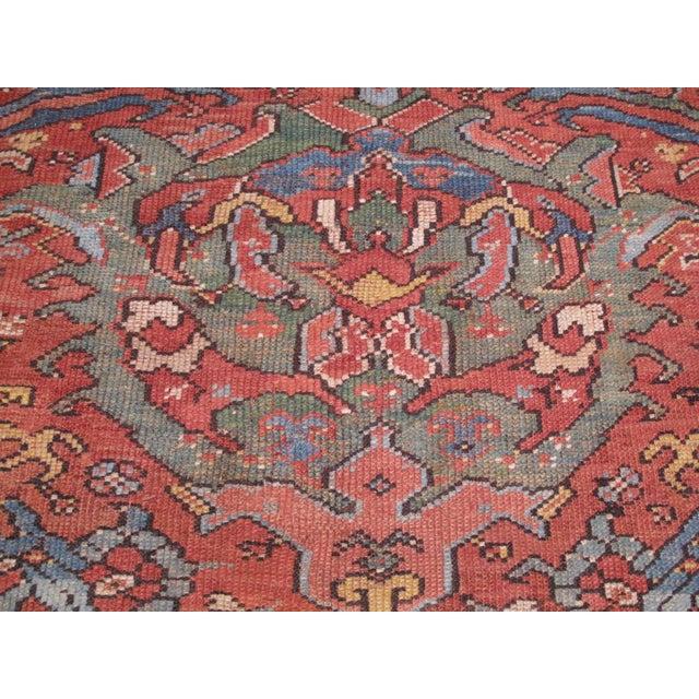 Antique Oushak Carpet For Sale - Image 4 of 8