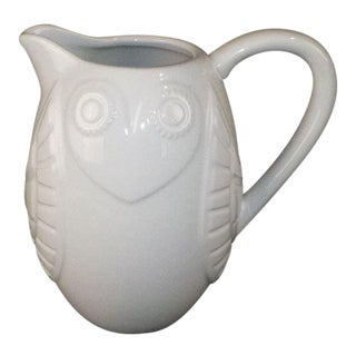 Cottage Jonathan Adler Owl Pitcher For Sale