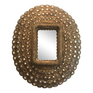 Moroccan Studded Wall Mirror For Sale