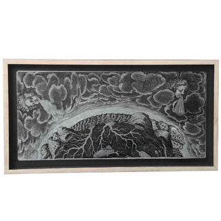 Original Fornasetti Zinc Lithograph Plate by Piero Fornasetti For Sale