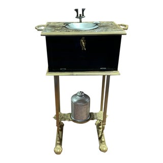 Antique Smoking Stand Cigar Ashtray Humidor For Sale