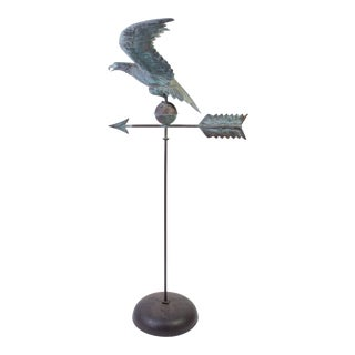 Copper Eagle Weathervane on Bell Pedestal For Sale