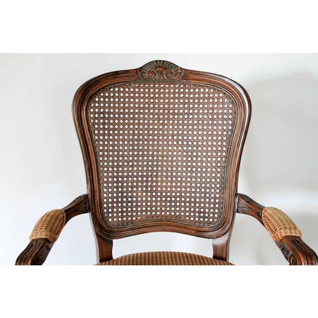 Caning Caned Fauteuils, a Pair For Sale - Image 7 of 10