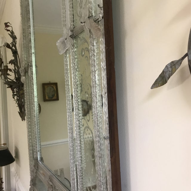 Late 20th Century 20th Century Venetian Glass Mirror For Sale - Image 5 of 7