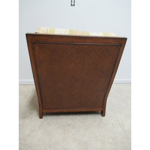 Wood Thomasville Tommy Bahama Style Wicker Lounge Chair For Sale - Image 7 of 13