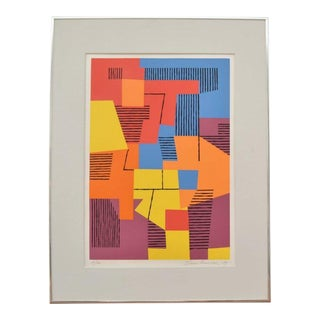 Danish Composition on Screenprint by Ejnar Pedersen, 1979 15/20 For Sale
