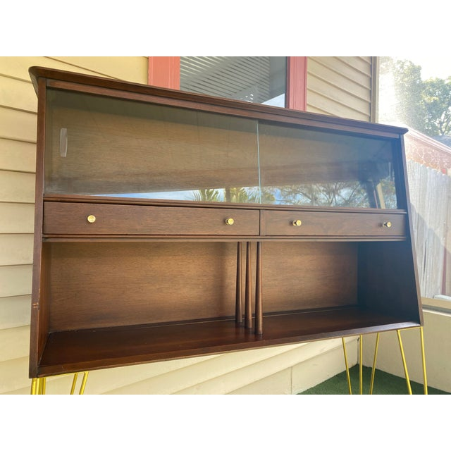 1960s Mid Century Modern Hairpin Cabinet For Sale - Image 5 of 7