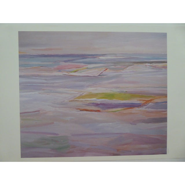 """1980's """"Sand & Water"""" Abstract Lithograph For Sale - Image 5 of 5"""