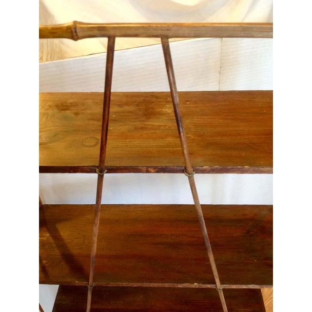 19th Century English Bamboo Bookstand / Étagère For Sale - Image 11 of 13
