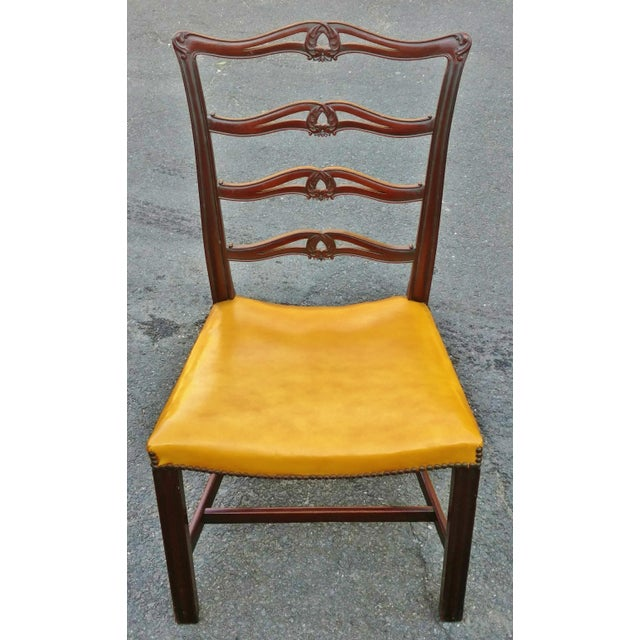 Mid 19th Century 19th C. Antique English Carved Mahogany Chippendale Dining Chairs- Set of 6 For Sale - Image 5 of 6