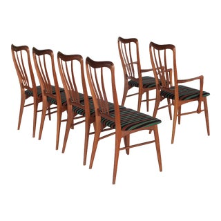 Vintage Mid Century Niels Koefoed Ingrid Dining Chairs- Set of 6 For Sale