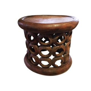 "African Bamileke Stool/Table Cameroon 16.25"" H by 18.25"" D For Sale"