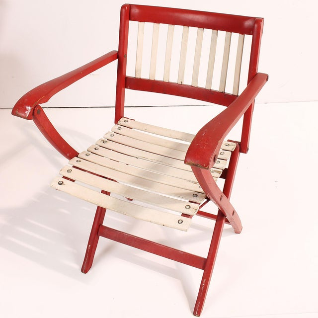 1950s Fratelli Reguitti Folding Deck Chairs - Set of 4 For Sale - Image 5 of 10